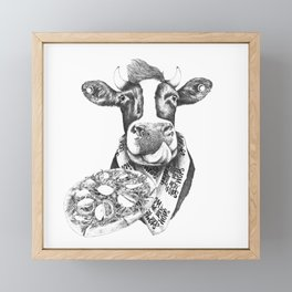 Picky Moo Framed Mini Art Print