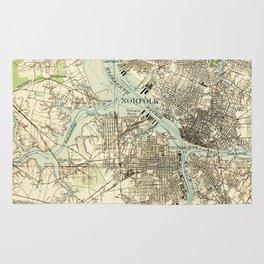 Vintage Map of The Hampton Roads (1918) Rug