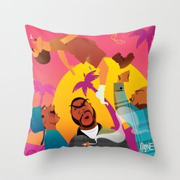 Knocked The Eff Out Throw Pillow