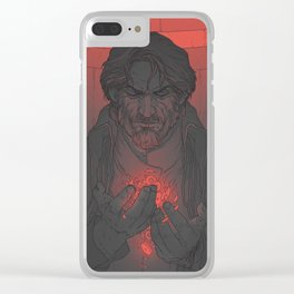 DH: Corvo the Black - Heart Clear iPhone Case