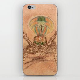 peacock spider illustration iPhone Skin