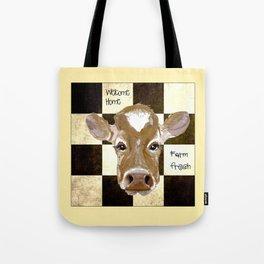 Farmhouse Cow, Welcome Home Farm Fresh Tote Bag