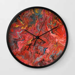 Abstract Oil Painting 5 Wall Clock