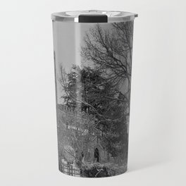 St Botolph's Church, Rugby Black and White Travel Mug