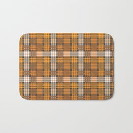 yellow basket weave plaid Bath Mat