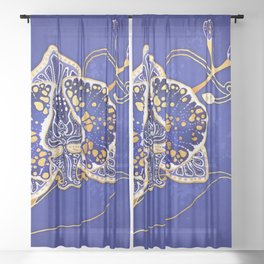 Egyptian Blue :: Orchid Sheer Curtain