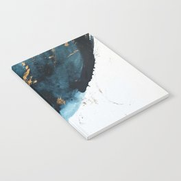 Sapphire and Gold Abstract Notebook