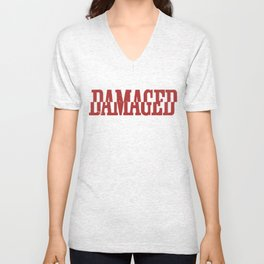 Damaged Unisex V-Neck
