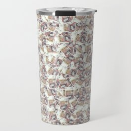 Giant money background 50 pound notes / 3D render of thousands of 50 pound notes Travel Mug