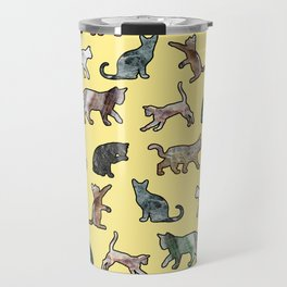 Cats shaped Marble - Sun Yellow Travel Mug