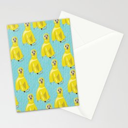 iggy in rain coat Stationery Cards
