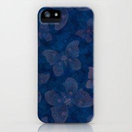 Moon moth indigo iPhone Case