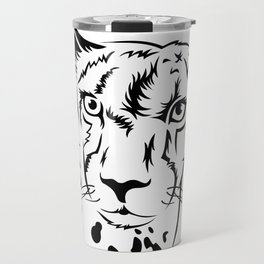 Сheetah head outline Travel Mug