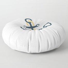 Anchor Ahoi Sailorboat marina Floor Pillow