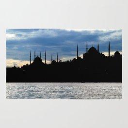 Sultanahmet Camii Skyline Istanbul Turkey Rug