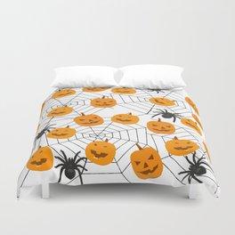 Halloween Pattern Spider Pumpkin Duvet Cover