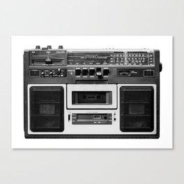 cassette recorder / audio player - 80s radio Canvas Print