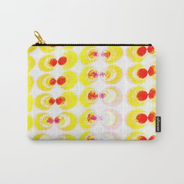 Fabric with yellow circles Carry-All Pouch