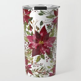 Poinsettia Flowers Travel Mug