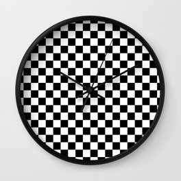 Checker (Black & White Pattern) Wall Clock