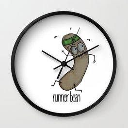 Runner Bean Wall Clock