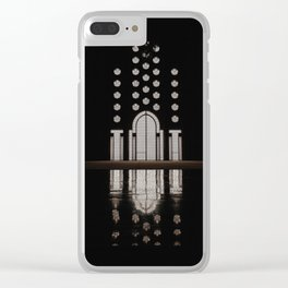 Islamic Architecture Inside Mausoleum Window Geometric Pattern Silhouette Mysterious Clear iPhone Case