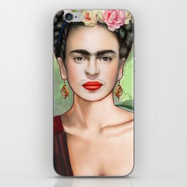 Frida con amigos iPhone Skin
