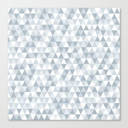 shades of ice gray triangles pattern Canvas Print