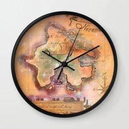 Never Land Map Wall Clock
