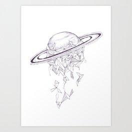 Geometric Saturn Art Print