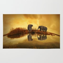 Elephant 3 Rug