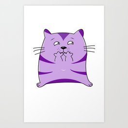 Fraidy Cat Art Print