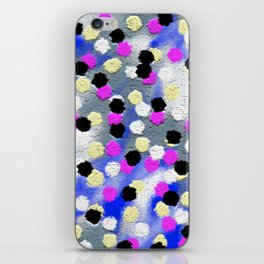 Dotts and texture Abstract Pattern iPhone Skin
