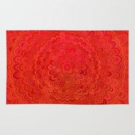 Fire Flower Mandala Rug