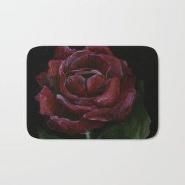 Flower, red rose, gothic beauti Bath Mat