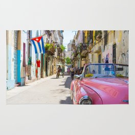 Colorful building streets in Cuba Rug