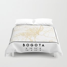 BOGOTA COLOMBIA CITY STREET MAP ART Duvet Cover