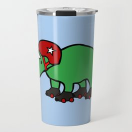 Roller Derby Triceratops Travel Mug