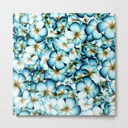 Plumeria Floral Pattern Metal Print