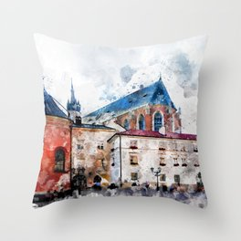 Cracow art 21 #cracow #krakow #city Throw Pillow