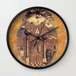 Symbols of the Freemasons Wall Clock