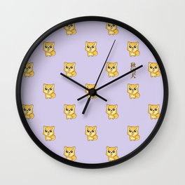 Hachikō, the legendary dog pattern Wall Clock