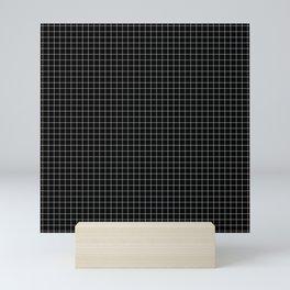 Just checkered pattern black and white 2 Mini Art Print