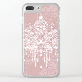Blush mandala Clear iPhone Case