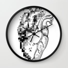 Pixeled Heart Wall Clock