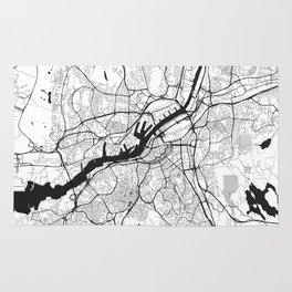 Gothenburg Map Gray Rug