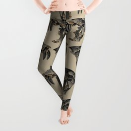 Ancient Warrior (Sabertooth Skull) Leggings