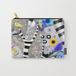 We gotta get away from here - Venzuela - BIRDS STRIPED TREE Carry-All Pouch