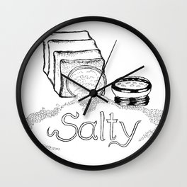 Salty - This Salt Shaker is Wide Open - Comic Wall Clock