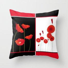 Graceful poppies Throw Pillow